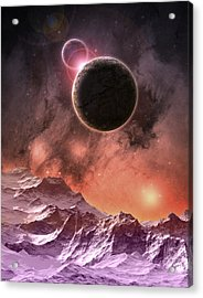 Cosmic Range Acrylic Print by Phil Perkins