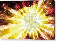Cosmic Solar Flower Fern Flare 2 Acrylic Print
