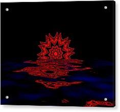 Cosmic Sun Set Acrylic Print by John Mueller
