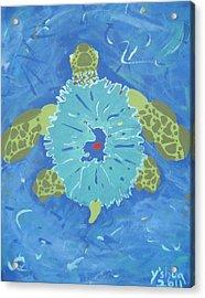 Cosmic Turtle Acrylic Print