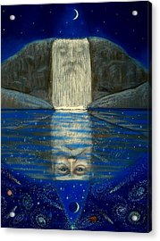 Cosmic Wizard Reflection Acrylic Print