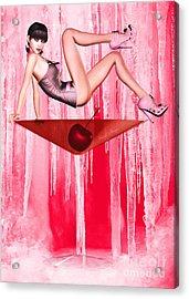 Cosmo Girl Acrylic Print