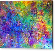 Acrylic Print featuring the painting Cosmos by Claire Bull