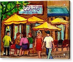Cosmos  Fameux Restaurant On Sherbrooke Acrylic Print