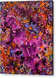 Acrylic Print featuring the painting Cosmos by Lynda Lehmann
