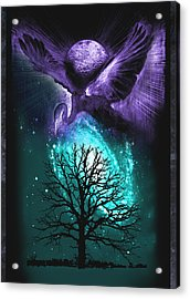 Acrylic Print featuring the painting Cosmos by Ragen Mendenhall