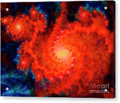 Cosmos Space Themed Abstract Fractal Art Acrylic Print