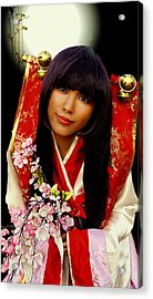 Cosplayer In Japanese Costume Acrylic Print