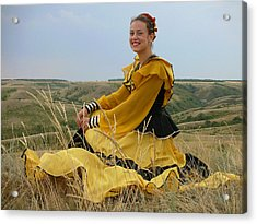Cossack Young Lady Acrylic Print
