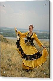 Cossack Young Woman Acrylic Print
