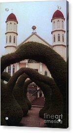 Costra Rica Garden Church Acrylic Print