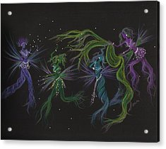Acrylic Print featuring the drawing Costume Malfunction by Dawn Fairies
