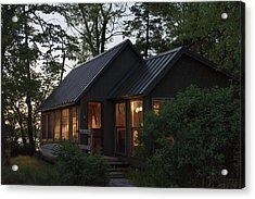 Acrylic Print featuring the photograph Cosy Cabin In The Woods by Gary Eason