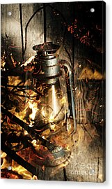 Cosy Open Fire. Cottage Artwork Acrylic Print by Jorgo Photography - Wall Art Gallery