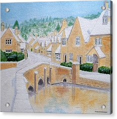 Cotswold Winter - Castle Combe Acrylic Print