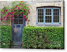 Acrylic Print featuring the photograph Cotswolds Cottage Home by Brian Jannsen