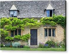 Acrylic Print featuring the photograph Cotswolds Cottage Home II by Brian Jannsen