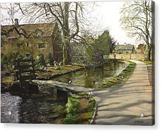Cotswolds Scene. Acrylic Print by Harry Robertson