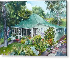 Acrylic Print featuring the painting Cottage At Chautauqua by Anne Gifford