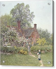Cottage At Chiddingfold Acrylic Print by Helen Allingham