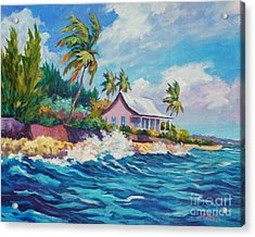 Cottage At Prospect Reef Acrylic Print by John Clark