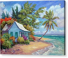 Cottage At The Water's Edge Acrylic Print