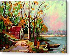 Cottage Country The Eastern Townships A Romantic Summer Landscape Acrylic Print by Carole Spandau