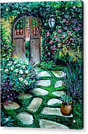 Cottage Gates Acrylic Print by Elizabeth Robinette Tyndall