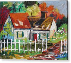 Cottage In The Sun Acrylic Print by John Williams