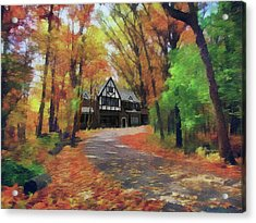 Cottage In The Woods Acrylic Print