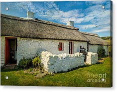 Cottage In Wales Acrylic Print by Adrian Evans