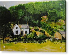 Cottage In Wales Acrylic Print by Harry Robertson