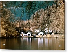 Cottage On The Lake Acrylic Print
