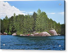 Acrylic Print featuring the painting Cottage View Silver Lake by Kenneth M Kirsch