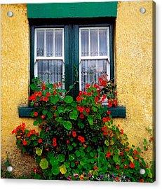 Cottage Window, Co Antrim, Ireland Acrylic Print by The Irish Image Collection