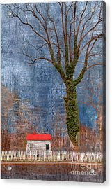Cottage With Red Roof Acrylic Print