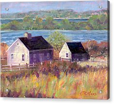 Cottages By The Bay Acrylic Print