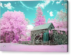 Acrylic Print featuring the photograph Cotton Candy Grist Mill by Brian Hale
