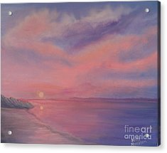 Acrylic Print featuring the painting Cotton Candy Sky by Holly Martinson