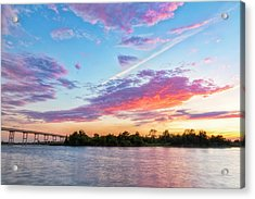 Cotton Candy Sunset Acrylic Print