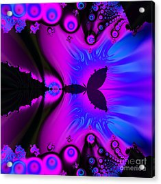 Cotton Candyland Fractal Acrylic Print
