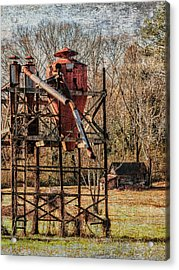 Cotton Gin In Vincent Alabama Acrylic Print by Phillip Burrow