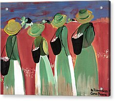 Cotton Pickers Acrylic Print by Robert Lee Hicks