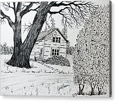 Cottonwood Homestead Acrylic Print
