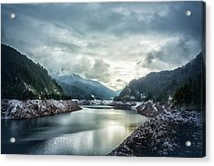 Cougar Reservoir On A Snowy Day Acrylic Print