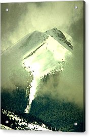 Acrylic Print featuring the photograph Coulier Through The Veil Spring Storm Over Lemhi Range Idaho by Anastasia Savage Ealy