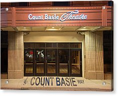 Count Basie Legacy In Red Bank Acrylic Print by Gary Slawsky