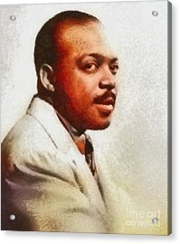 Count Basie, Music Legend Acrylic Print by Mary Bassett