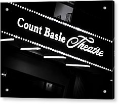 Count Basie Theatre In Lights Acrylic Print by Colleen Kammerer
