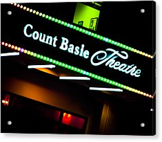 Count Basie Theatre Lights In Color Acrylic Print by Colleen Kammerer